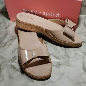 Easy spirit bow nude mules10